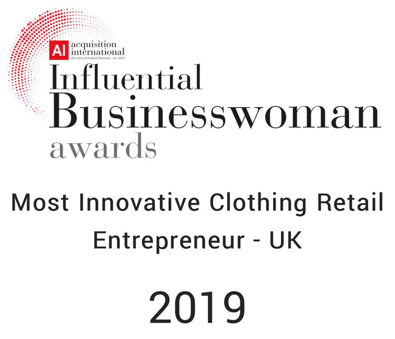 Aquisition International Influential Businesswoman award 2019